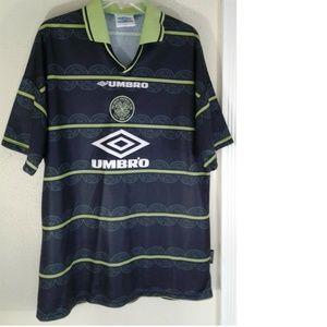 UK Celtic Football Club 1998 99 Away Soccer Shirt